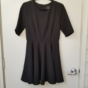 Anthro Greylin Short Sleeve Box Pleat Dress